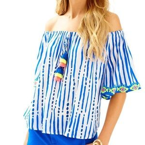 Lilly Pulitzer Bay Stripe Engineered Sain Top
